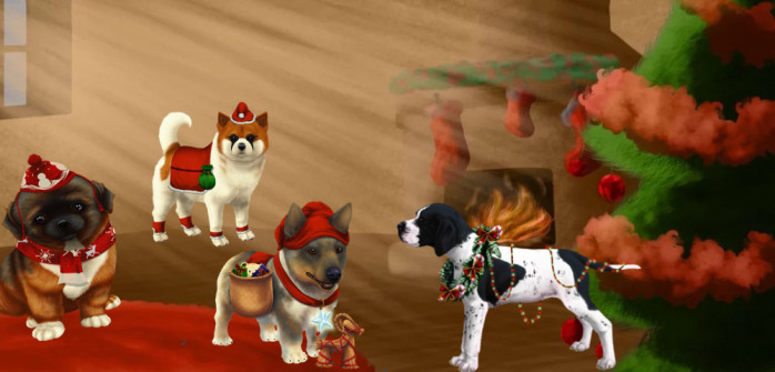 Get your dogs into the Holiday spirit with some exclusive coats!